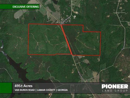 495 Acres Van Buren Road : Milner : Lamar County : Georgia