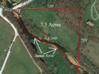 7.5 Acres On The James River