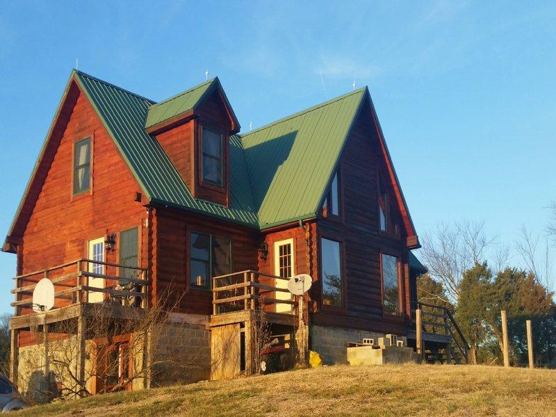 Custom Built Log Home Farm For Sale Greeneville