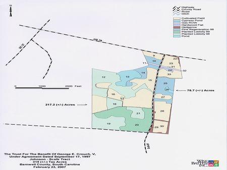Johnson-Scafe Tract - 295.9 Acres : Barnwell : Barnwell County : South Carolina