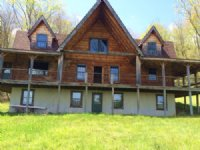 Log Home With Pond On 123 Acres