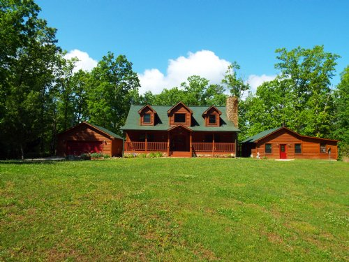 Log Sided Home In The Mountains : Wartburg : Morgan County : Tennessee