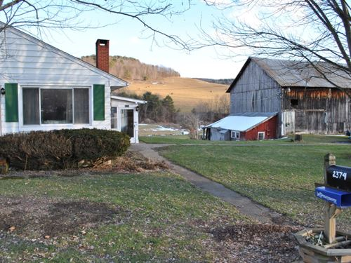 156 Acres Former Dairy Farm In Ny : Newark Valley : Tioga County : New York