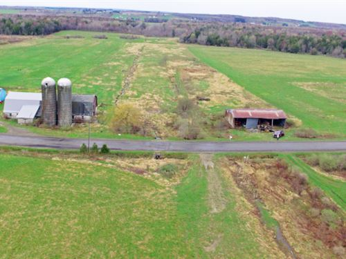62 Acres Farmland Barn Arcade Ny : Arcade : Wyoming County : New York