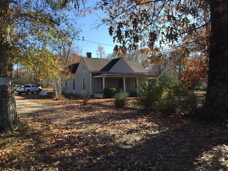 Wooded Acreage With Historic Home : Covington : Newton County : Georgia