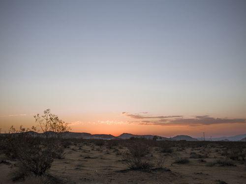 5 Acres Land Can Add Water Meter : Landers : San Bernardino County : California