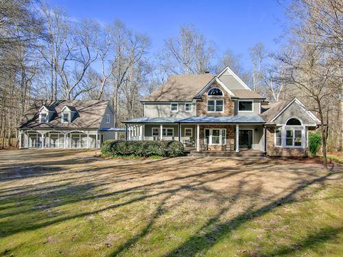 Stunning, Custom Home On 12 Acres : Auburn : Barrow County : Georgia