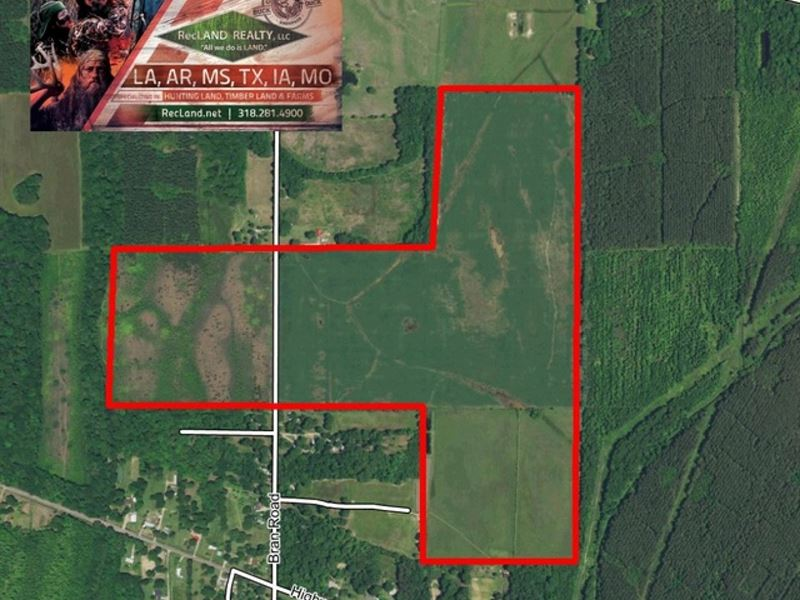 200 Ac Irrigated Farm Land - Price : Oak Grove : West Carroll Parish : Louisiana