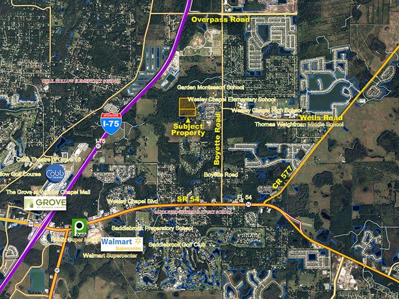 Pasco County Florida Map.Wesley Chapel Lakefront Development Farm For Sale Wesley Chapel