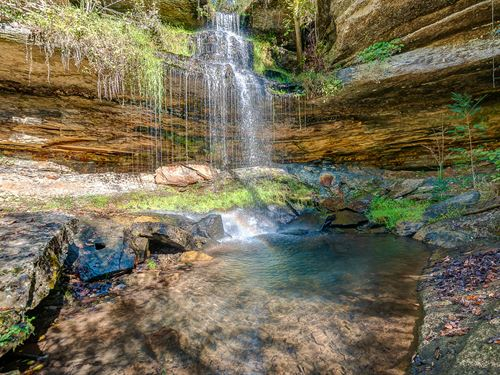 30 Foot Waterfall, 120 Acres & Home : Centerville : Hickman County : Tennessee