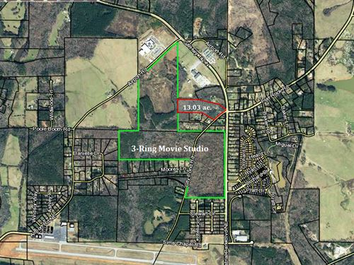 13.03 Acres Next To Movie Studio : Covington : Newton County : Georgia