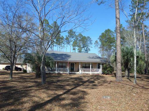 Home With 7+ Acres : Odum : Wayne County : Georgia