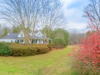 Cape Cod Farm House On 27Ac + Pond : Union Point : Oglethorpe County : Georgia