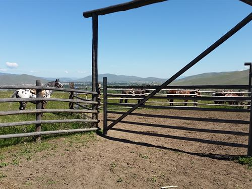 240 Acre Cattle Ranch Land With Cre : Dixon : Sanders County : Montana