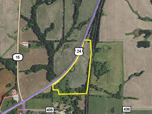 33.5 Acres Hwy 24 : Paris : Monroe County : Missouri