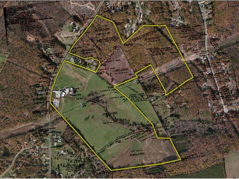 153 Acre Farm Near Lynchburg Va : Rustburg : Campbell County : Virginia