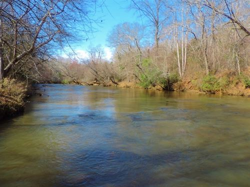 Broad River Frontage/ Huge Hardwood : Carnesville : Franklin County : Georgia