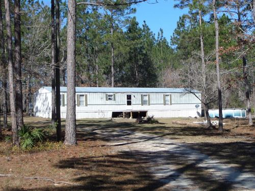 5 Acres With Home On Mallard Rd : Odum : Ware County : Georgia