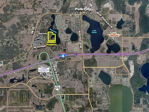 Hickory Cove Lakefront Acreage : Polk City : Polk County : Florida