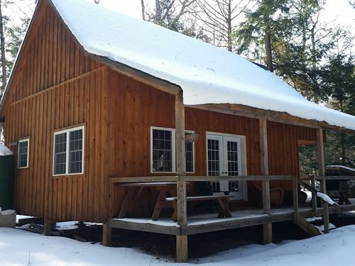 Cabin On Carterville Pond : Amboy : Oswego County : New York