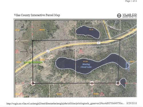 80 Wooded Ac On Moving Cloud Lake : Lac Du Flambeau : Vilas County : Wisconsin