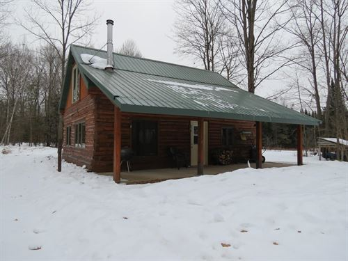 Cabin With 80 Acres And Mature Deer : Wittenberg : Marathon County : Wisconsin