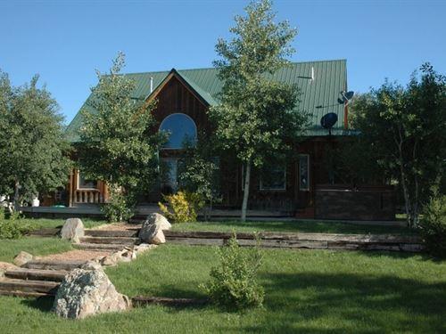 Home Overlooking Blue Mesa : Gunnison County : Colorado