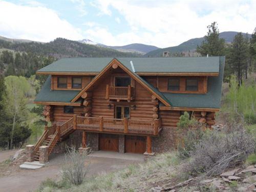 Handcrafted Log Home : South Fork : Rio Grande County : Colorado