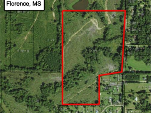 53.5+/- Acres : Florence : Rankin County : Mississippi