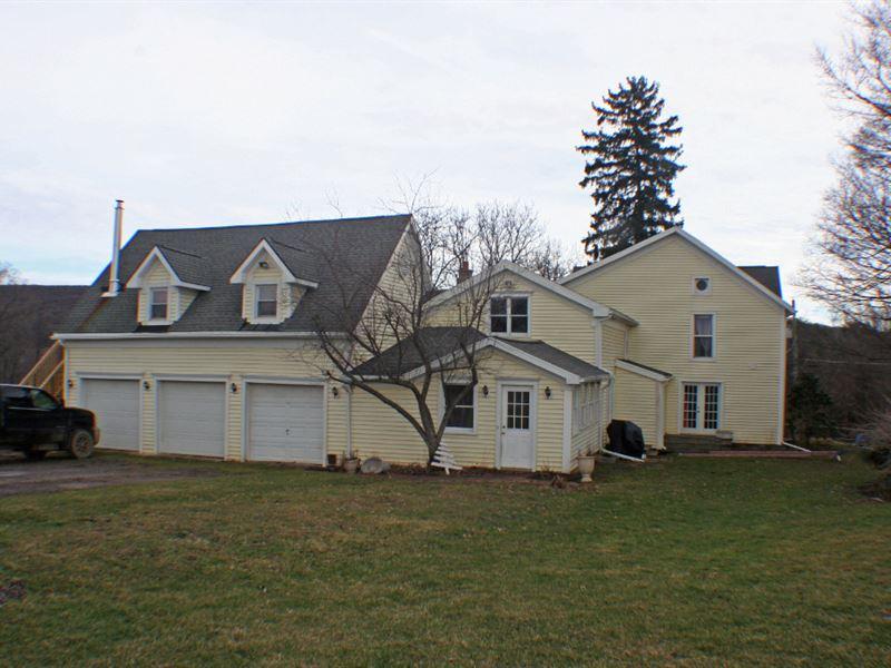 Farmhouse And Barns On 15 Acres Farm For Sale
