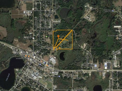 34 Ac Improved Pasture/Industrial : Groveland : Lake County : Florida