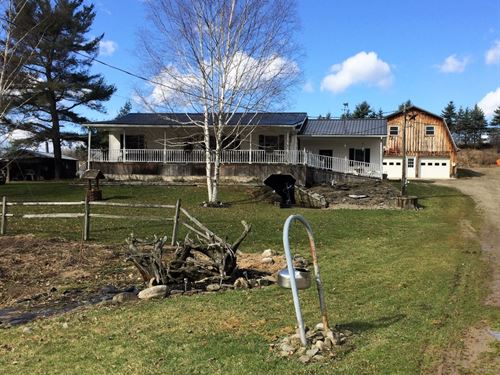 15 Acres House Barns Angelica Ny : Angelica : Allegany County : New York