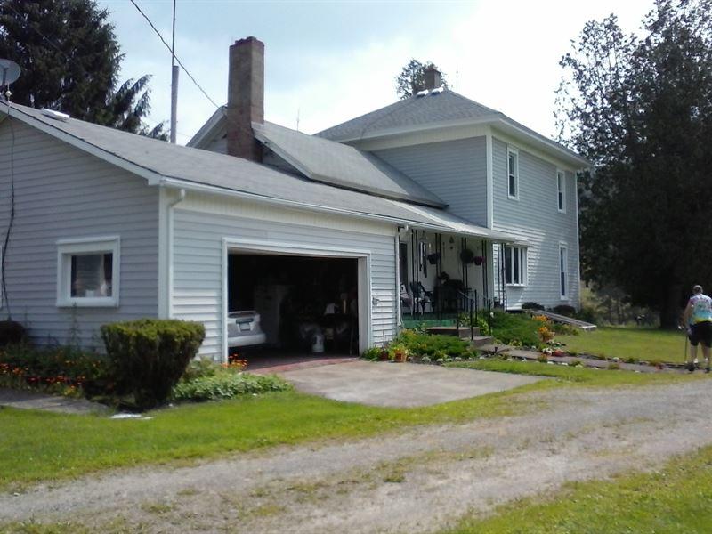 Farm For Sale, 116 Acres, 4 Barns : Hinsdale : Cattaraugus County : New York