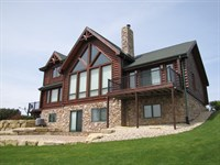 Luxury Log Home Estate : Boscobel : Crawford County : Wisconsin