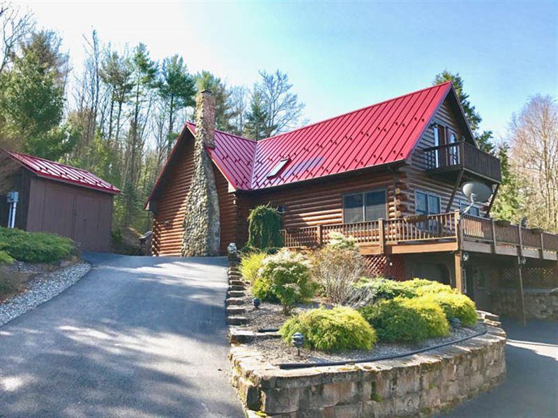 101 +/- Acres, Cape Cod Log Home : Benton : Columbia County : Pennsylvania