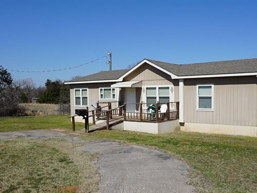 Country Home For Sale With Acreage : Chandler : Lincoln County : Oklahoma