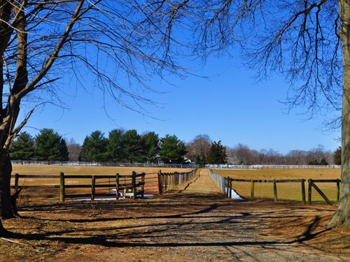 Equestrian Farm On 48+/- Acres : Colts Neck : Monmouth County : New Jersey