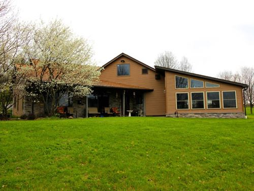 65 Acres, Custom Built Home : Bloomsburg : Columbia County : Pennsylvania