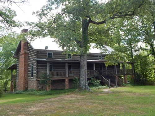 Amazing Log Cabin On 80 Wooded Acre : Liberty : Amite County : Mississippi