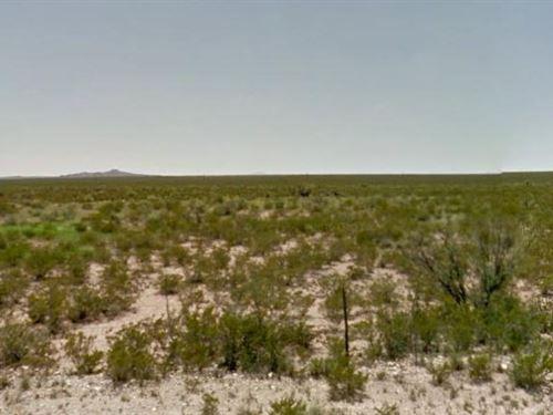 Hudspeth County, Tx $40,000 Neg : Hudspeth : Texas
