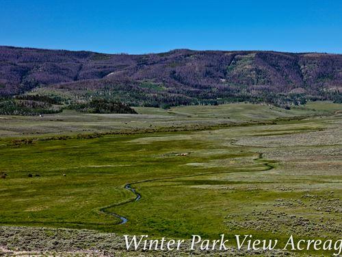 Winter Park View Acreage : Granby : Grand County : Colorado