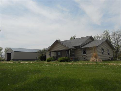 Farmhouse Near Lovewell Reservoir : Formoso : Jewell County : Kansas