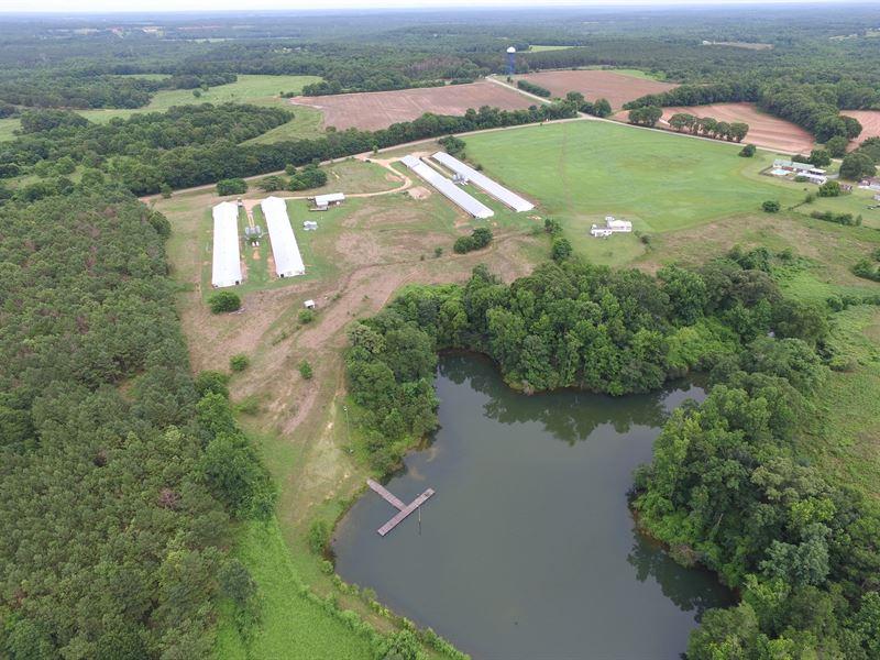 Four House Broiler Farm : Banks : Pike County : Alabama