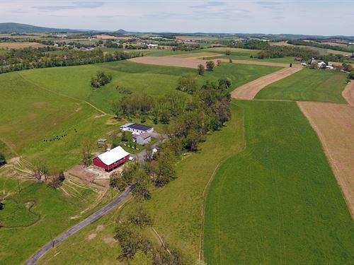 134.8 Acre Postcard-Perfect Farm : Shoemakersville : Berks County : Pennsylvania