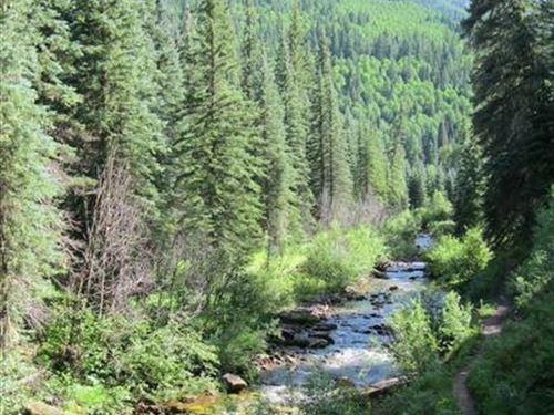 Colorado 40 Ac Mining Claim W/Creek : Granby : Grand County : Colorado