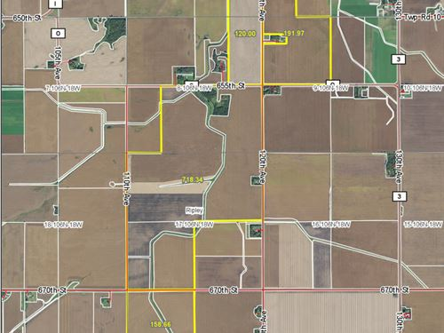 1,269 Contiguous Acres Of Farmland : Claremont : Dodge County : Minnesota