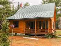 Streamside Log Home & Camp : Cambridge : Somerset County : Maine