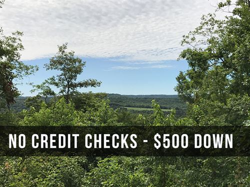 15 Acres With Views And Low Payment : Eminence : Shannon County : Missouri