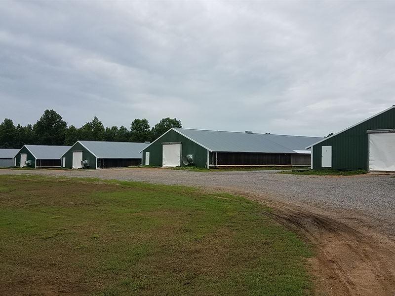 Four House Broiler Farm : Baileyton : Cullman County : Alabama