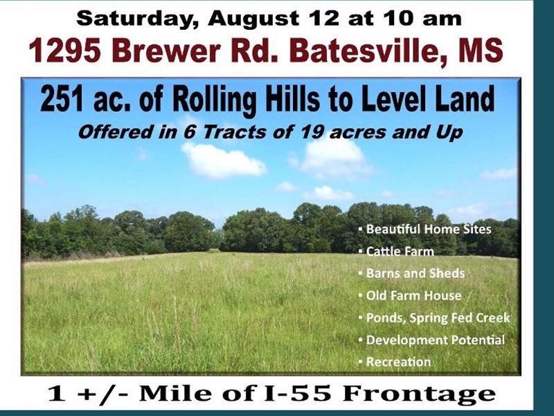 Court Ordered Estate Auction Farm Auction In Batesville Panola County Mississippi 127351 Farmflip